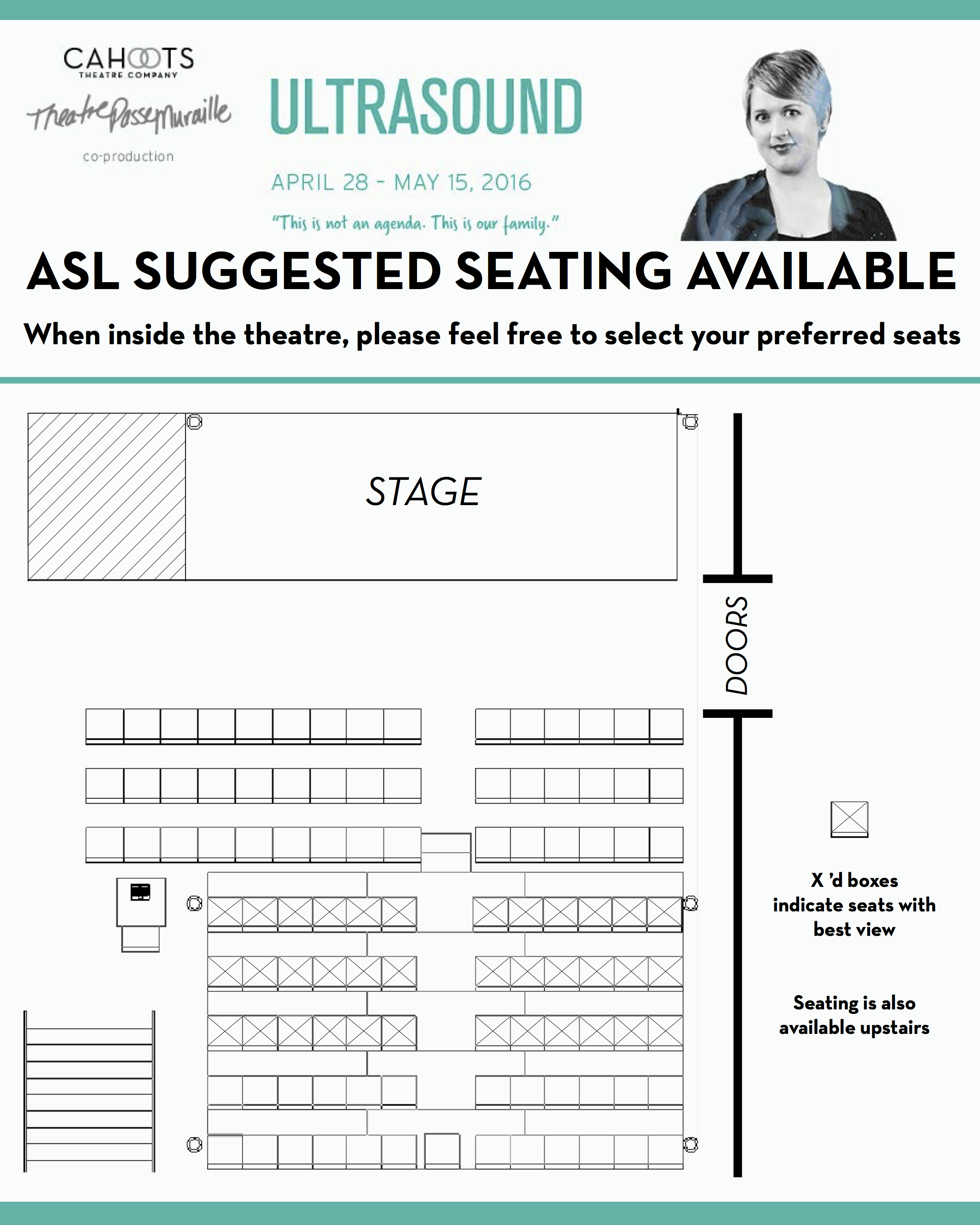 ASL Reserved Seating Chart used in Ultrasound