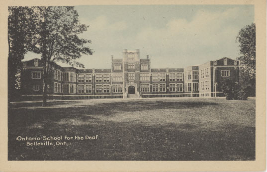 Ontario School for the Deaf, Belleville, postcard image